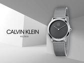 【時間道】Calvin Klein | CK時尚簡約馬賽克面盤腕錶/ 黑灰面米蘭帶(K3M2112X)免運費