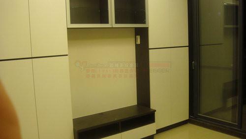 【系統家具】電視櫃搭配吊櫃
