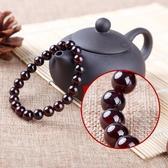 天然酒紅石榴石手鍊女單圈多圈瑪瑙民族風水晶飾品女情侶手串 618購
