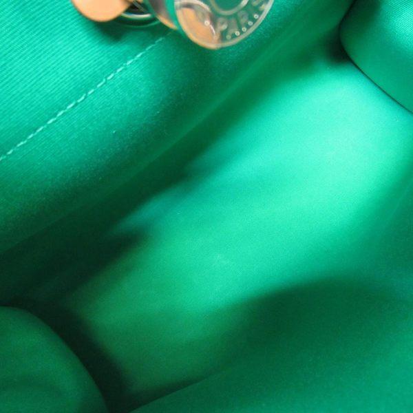 HERMES 愛馬仕 棕色牛皮藍色帆布手提肩背包 Herbag Zip PM P刻 【二手名牌BRAND OFF】