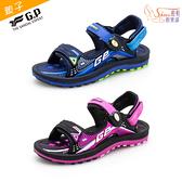 涼鞋.G.P 親子系列 雙層舒適緩震涼拖鞋.藍/黑桃【鞋鞋俱樂部】【255-G0791BW】