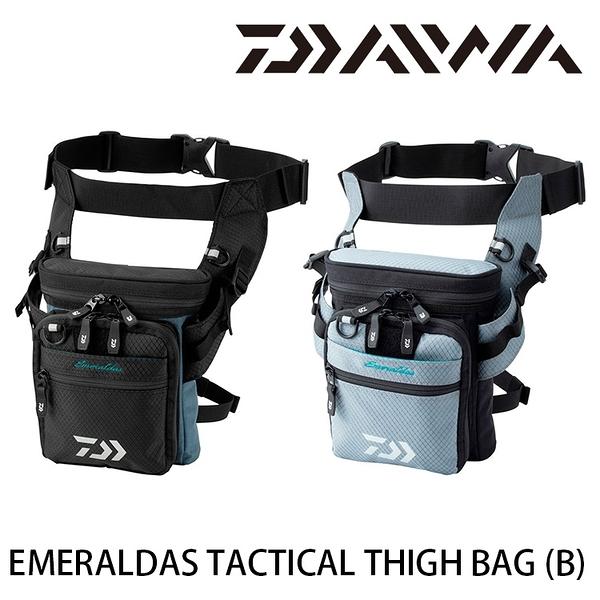 漁拓釣具 DAIWA EMERALDAS TACTICAL THIGH BAG [B] [木蝦腿包]