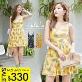 LULUS-S樹葉細肩帶洋裝-2色  現+預【02021267】