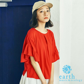 ❖ Hot item ❖ 2WAY正反兩穿荷葉喇叭袖上衣 - earth music&ecology