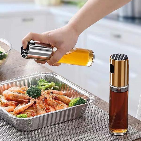 大廚必備! 玻璃 噴霧 油瓶 噴油壺 廚房 調味瓶 油罐 分裝瓶 防漏油罐 氣炸鍋專用 『無名』 P10120