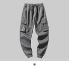 【男人幫大尺碼】K1625-時尚潮流嘻哈工作長褲-灰色
