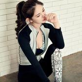 女運動套裝黑白色系三件套 上衣褲子T174175176米莎 misha