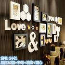 照片墻 - 現代簡約個性實木廳創意組合相框掛墻 jy相片畫框沙發背景墻【店慶狂歡八折搶購】