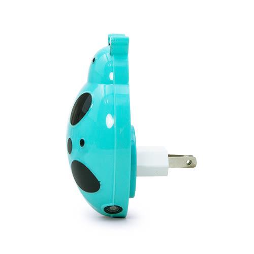 LIKA夢 捷銳 jierui 光控感應式省電節能臥室、床頭LED小夜燈 壁燈 瓢蟲系列 藍黑 D5JI-A62BL