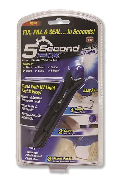 【美國代購-現貨】5 Second Fix Liquid Plastic Welding Kit 5秒黏接UV光線筆(1支入)
