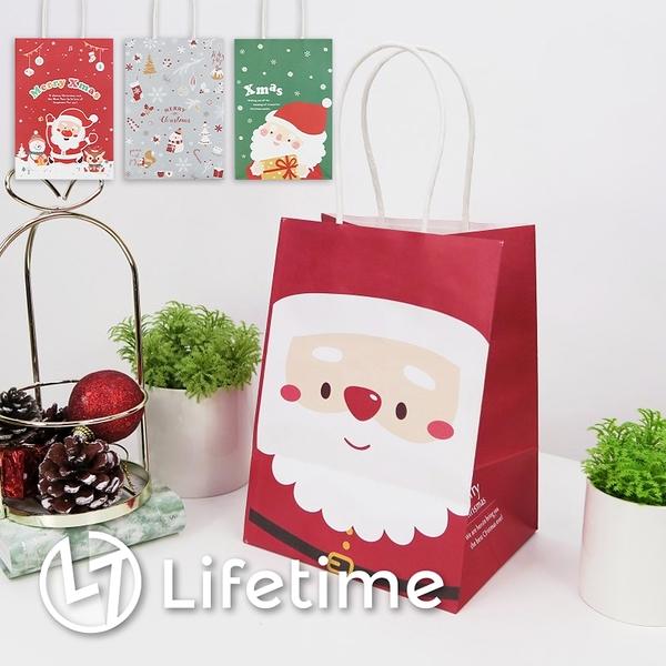 ﹝聖誕手提紙袋6K﹞正版 禮物包裝 提袋 聖誕老公公 雪人 聖誕禮物〖LifeTime一生流行館〗