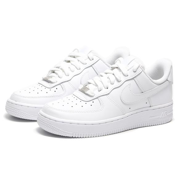 NIKE 休閒鞋 AIR FORCE 1 ESS 全白 經典款 基本款 皮革 女 (布魯克林) DD8959-100