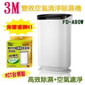 【限時優惠】3M 雙效空氣清淨除濕機 FD-A90W 加贈 濾網 1片 除溼 除溼機 防蹣 清淨 空淨機 過敏