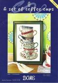 十字繡材料包咖啡杯100108  藝材料DIY 刺繡繡花DMC 壁畫壁飾掛畫裝裱框繡布手機