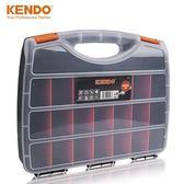 工具箱 KENDO 塑料手提式工具盒零件盒螺絲收納盒電子元件盒分格箱物料盒 mks薇薇