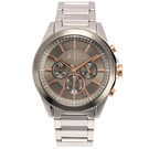 A/X Armani Exchange三眼計時低調灰鋼帶男腕錶46mm(AX2606)271018