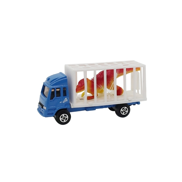 A&L奧麗迷你合金車 NO.163 動物搬運車-暴龍 滑行車 運送車 運輸車 工程模型車(1:64)【楚崴玩具】