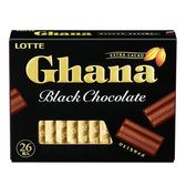 LOTTE Ghana巧克力-黑-119g【愛買】
