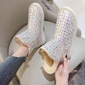 雪靴 雪地靴女2019冬季新款短筒百搭學生厚底短靴防水防滑加厚保暖棉鞋36-40碼 6色