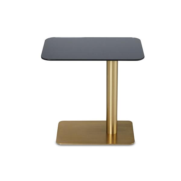 Tom Dixon Flash Table Rectangle 50x30xH40cm 閃耀系列 黃銅 長方形 邊桌 - 鋼化鏡面玻璃桌面