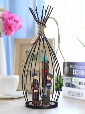 [協貿國際]鐵藝吊籠情侶裝飾品單個價