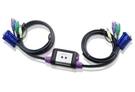 新竹【超人3C】ATEN 宏正 CS62A KVM 2埠 2PORT PS/2 KVM切換小精靈 LED指示功能 音訊(Audio) 聲音