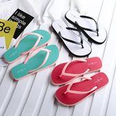 夏季時尚夾腳防滑平跟海邊沙灘鞋2018新款
