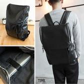 [潮流堂]  韓式潮流多收納大容量機能型素面皮革後背包.A4筆電可入37780328