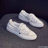 網紅夏季小白鞋女2020百搭平底洋氣板鞋新款透氣潮鞋夏款懶人白鞋 童趣