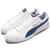 Puma Smash L 男款 經典 白 藍 皮 復古 滑板鞋 休閒鞋 35672221