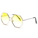 正韓大框顯瘦潮女八角形凹造型不規則復古太陽鏡女海洋裝墨鏡