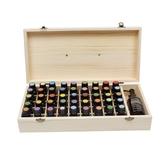 精油收納木盒46格手提木箱實木精油盒子