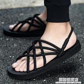 拖鞋男夏時尚潮外穿羅馬涼鞋男士防滑軟底耐磨涼拖鞋情侶沙灘鞋 極簡雜貨