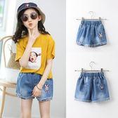 女童牛仔短褲外穿百搭夏裝薄款中大兒童女孩夏天夏季寬鬆童裝褲子