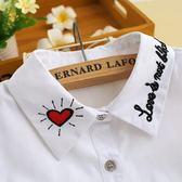 假領子假領片假衣領  愛心百搭尖領項鍊罩衫洋裝針織大學T外套內搭白色 [E1206]  預購.朵曼堤洋行