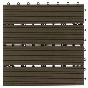 特力屋 塑木地板 30x30cm 深棕色 單售