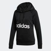 Adidas ESS LIN Hoodie [S97081] 女 套頭 連帽 長袖 上衣 舒適 棉質 愛迪達 黑