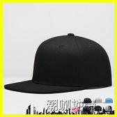 平沿帽檐棒球帽男士純色嘻哈帽鴨舌帽子板帽韓版潮遮陽帽春夏天