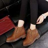 【618好康又一發】厚底粗跟短靴女英倫風復古馬丁靴