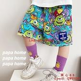 男童短褲童裝新款兒童印花卡通五分褲薄款寬松休閑褲【齊心88】