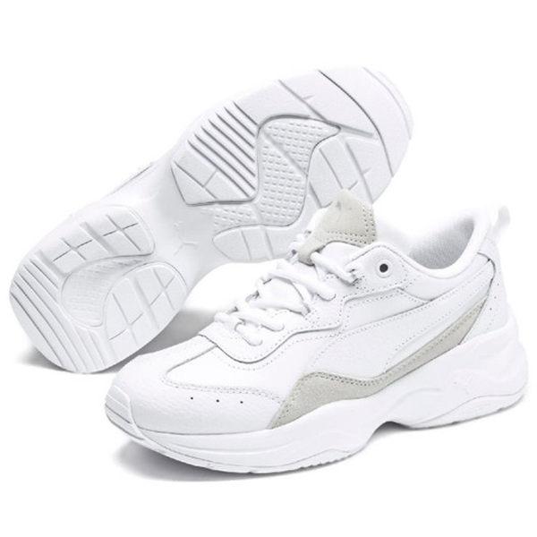 PUMA CILIA LUX 女鞋 休閒 老爹鞋 復古 皮革 避震 記憶鞋墊 白【運動世界】37028205
