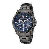 【Maserati 瑪莎拉蒂】SUCCESSO刷紋面盤設計三眼日期錶-潮流藍/R8873621005/台灣總代理公司貨兩年保固