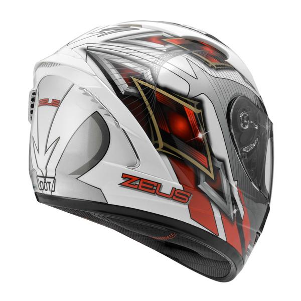 ZEUS 瑞獅安全帽,ZS-806F,II58/白紅