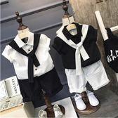 優惠兩天-男童套裝2018新款夏季3-4-5歲 寶寶潮中小童西裝短袖六一表演服【限時八八折】