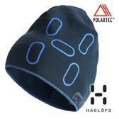 【瑞典Haglofs】FANATIC PRINT CAP 輕量 透氣刷毛帽『深沉藍』894030 保暖帽│造型帽│毛帽 Polartec®