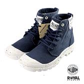 Palladium 新竹皇家 Pampa 深藍色 帆布 軟木鞋墊 高統 軍靴 女款 NO.I9653