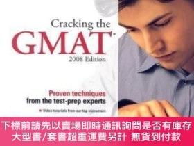 二手書博民逛書店Cracking罕見The Gmat 2008 Edition With DvdY255174 Martz,