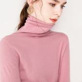 大碼羊絨半高圓堆堆領套頭內搭打底針織衫寬松長袖秋冬純色毛衣女
