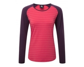 Mountain Equipment 英國 Redline LS 彈性合身長袖 T恤-抗菌天絲 女款 粉/黑莓紫 Me-001637 Polygiene【易遨遊】