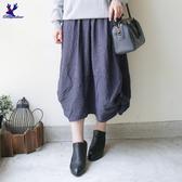 【秋冬降價款】American Bluedeer - 細條紋半身裙(特價) 秋冬新款